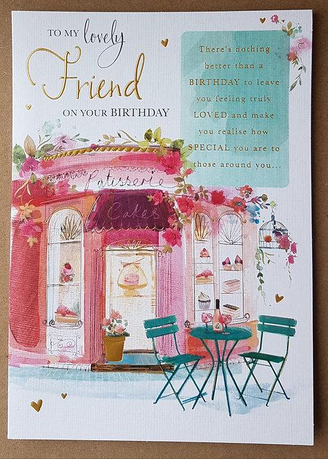Female Birthday Greeting Card - Friend