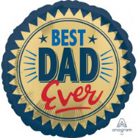"18"" Best Dad Ever Balloon - Helium Filled"