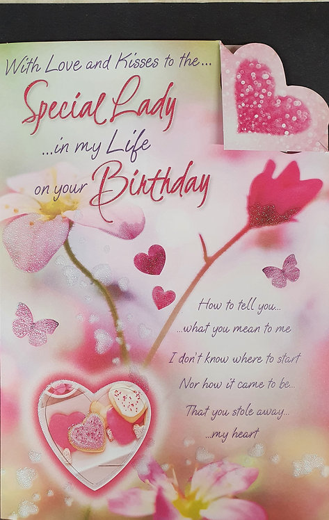 Lady In My Life Birthday Card
