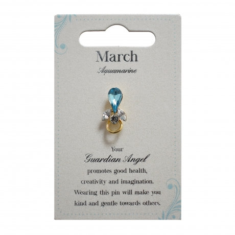 Guardian Angel Pin - March