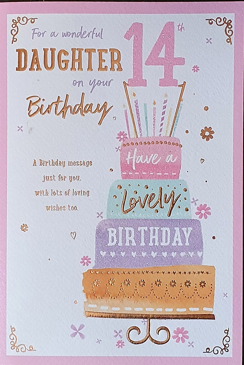 Daughter 14th Birthday Card