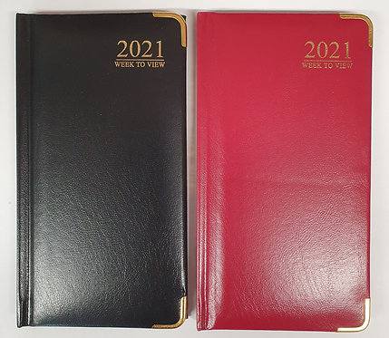 2021 Slim Diary with Leather Effect Cover