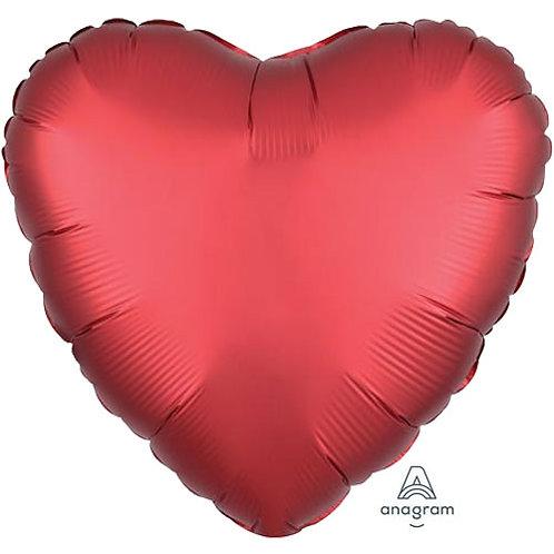 "18"" Sangria Heart -  Anagram Balloon - Helium Filled"