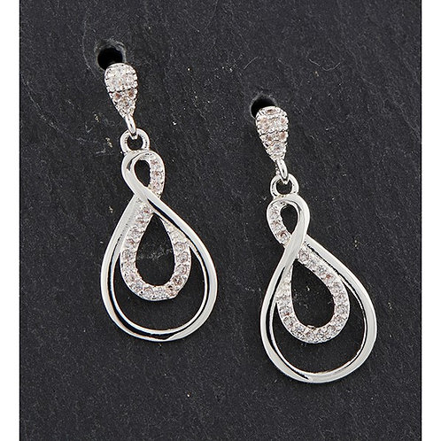 Equilibrium Eternity Sparkle Silver Plated earrings