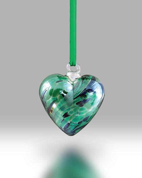 August Birth Gem Heart Nobile Glassware Friendship Ball