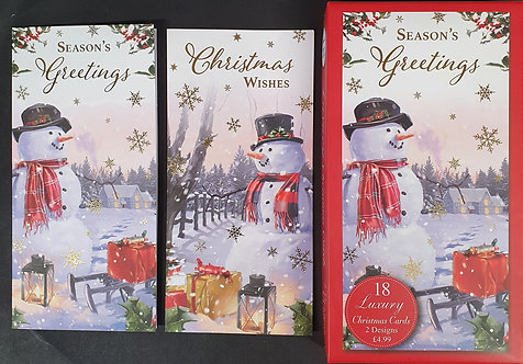 Box of Luxury Christmas Cards With Snowmen