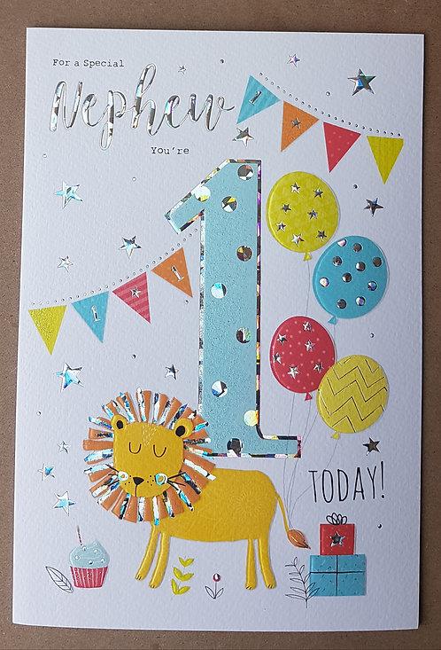 Nephew 1st Birthday Greeting Card