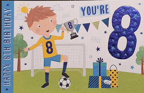 8th Male Birthday Greeting Card