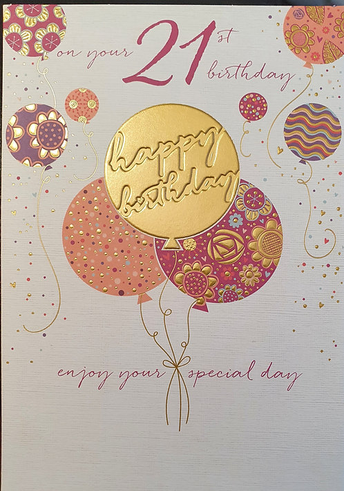 21st Female Birthday Card