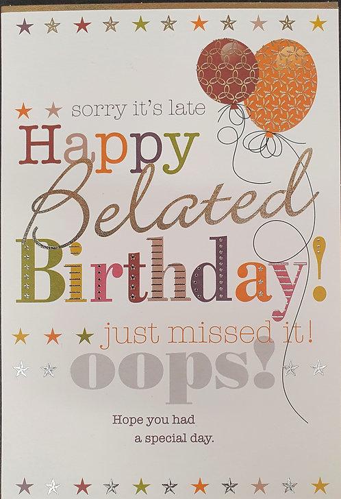Belated Birthday Greeting Card