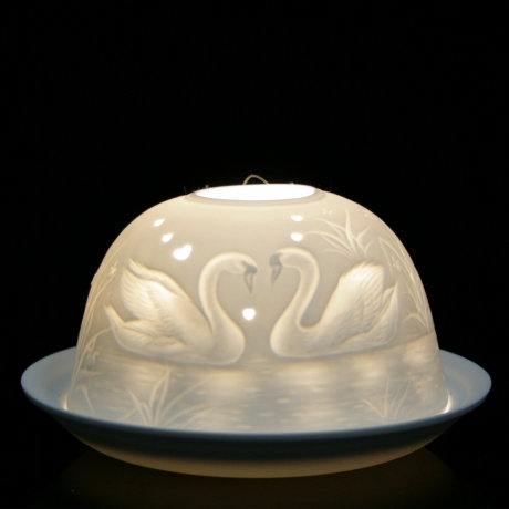 Nordic Light Candle Shade With Swans