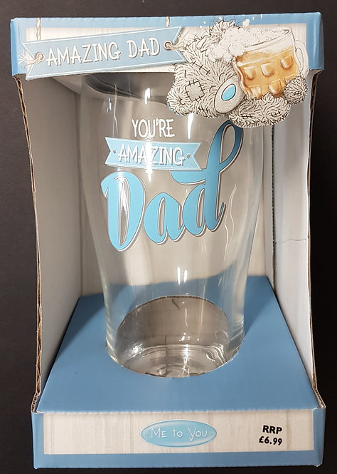 Dad Pint Glass by Me to You