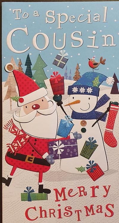 Cousin Christmas Greeting Card