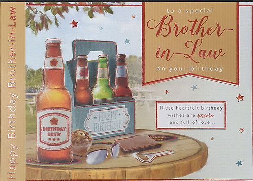 Brother-in-Law Birthday Greeting Card With Beer