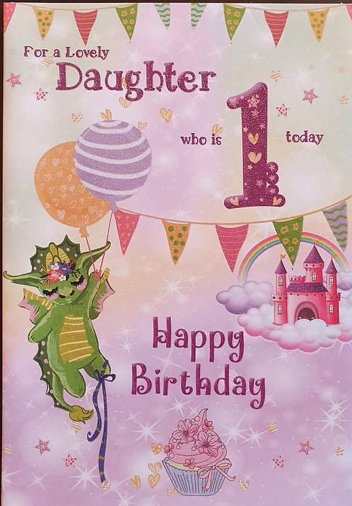 Daughter 1st Birthday Card