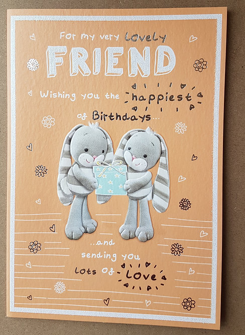 Female Birthday Greeting Card - Friend, Hun Bun