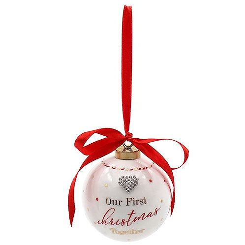 Our 1st Christmas Together Bauble
