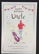 uncle birthday greeting card golf