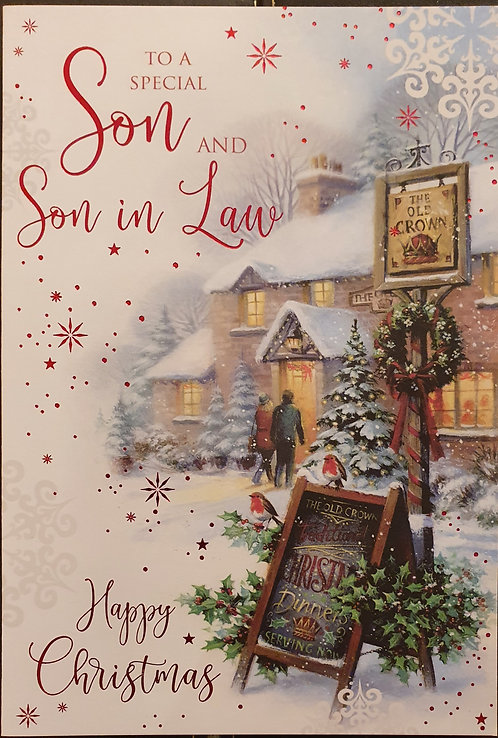 Son and Son in Law Christmas Greeting Card
