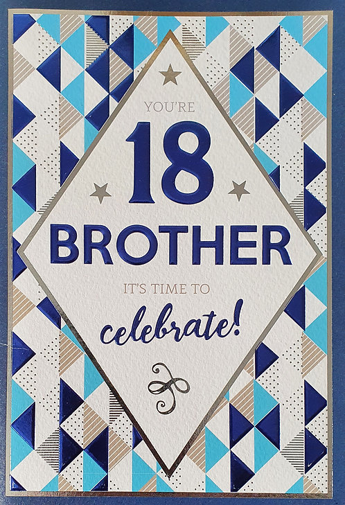 Brother 18th Birthday Card
