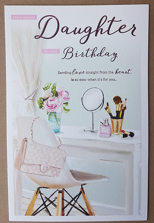 Daughter Birthday Greeting Card With Dressing Table