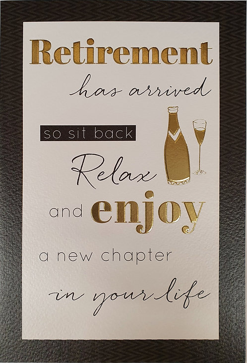 Retirement Greeting Card Front