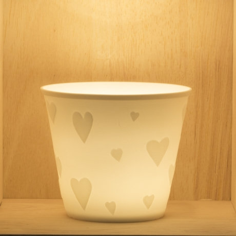 Nordic Light Tea Light Holder With Love Hearts