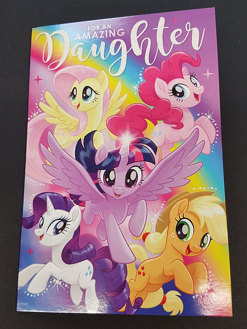 Daughter Birthday Card - My Little Pony