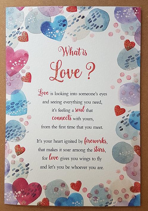 Eternal Range - What is Love? Card
