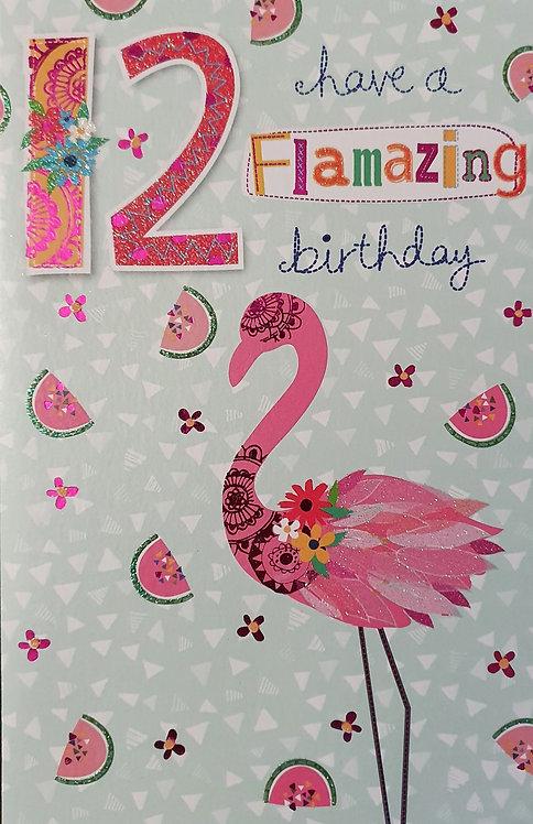 12th Female Birthday Card