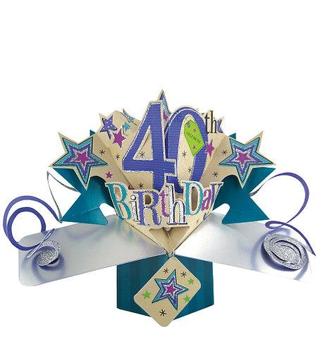 40th Birthday Pop Up Card