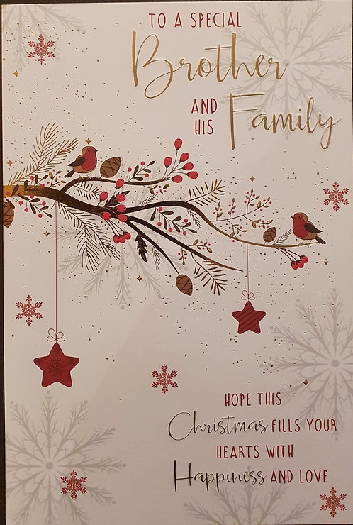 Brother and Family Christmas Greeting Card