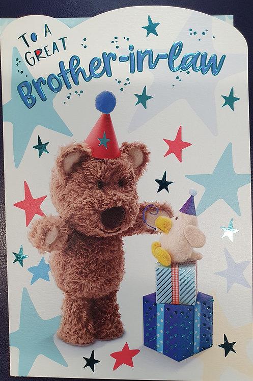 Brother-in-Law Birthday Card - Barley Bear