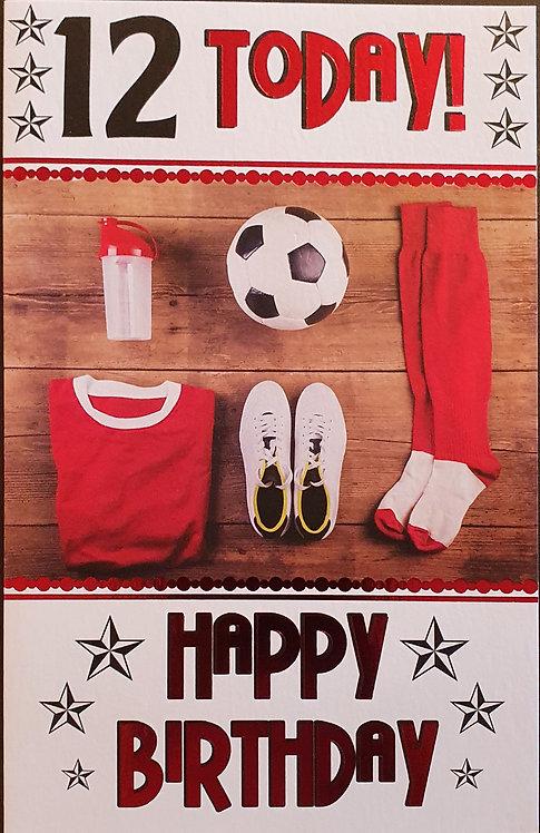 12th Male Birthday Card