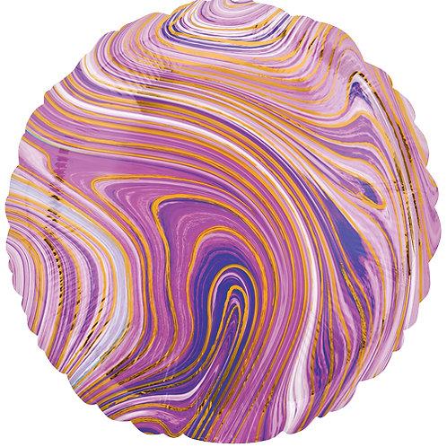 """18"""" Marblez Purple Round -  Anagram Balloon - Helium Filled"""