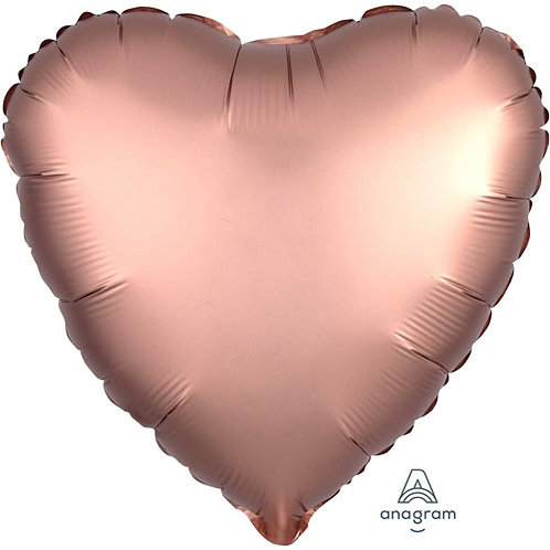 """18"""" Rose Copper Heart -  Anagram Balloon - Helium Filled"""