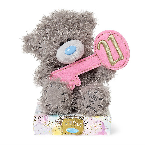 21st birthday Me To You Teddy bear with 21st key