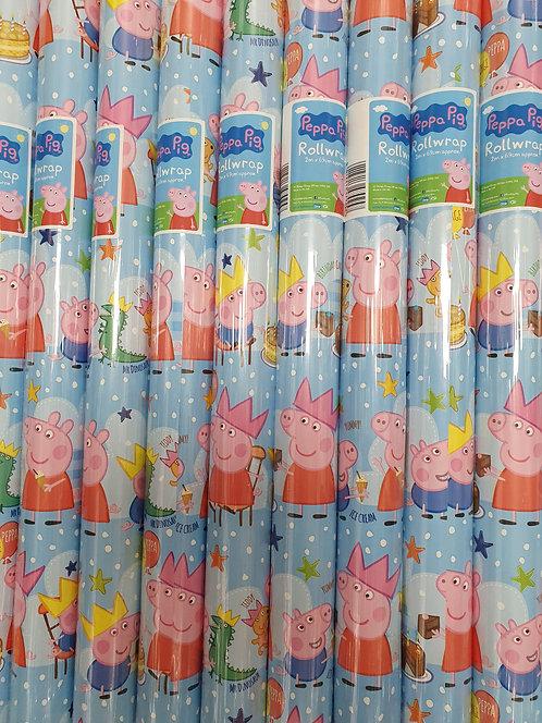 2m Giftwrap - Peppa Pig