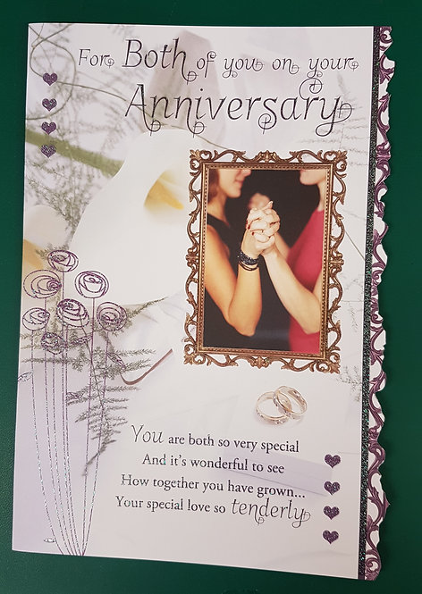 Female On Your Anniversary Greeting Card