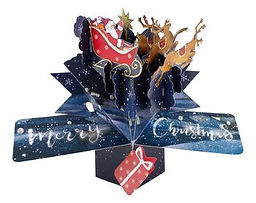 christmas 3D pop up greeting card