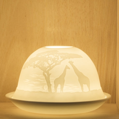 Nordic Light Candle Shade With Giraffe