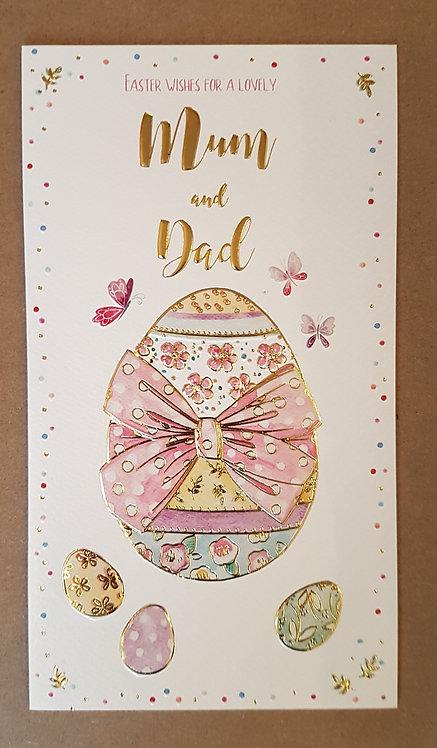 Mum & Dad - Easter Greeting Card