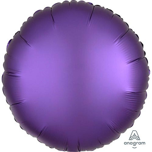 "18"" Purple Royale Round -  Anagram Balloon - Helium Filled"