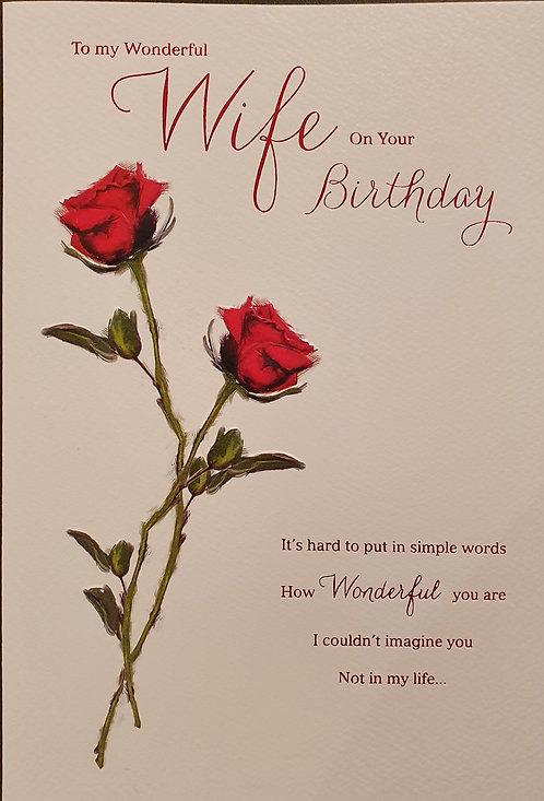 Wife Birthday Card