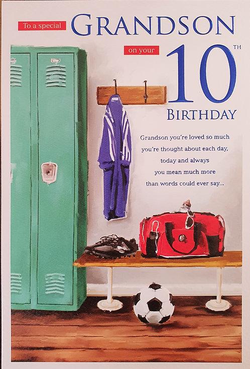Grandson 10th Birthday Card