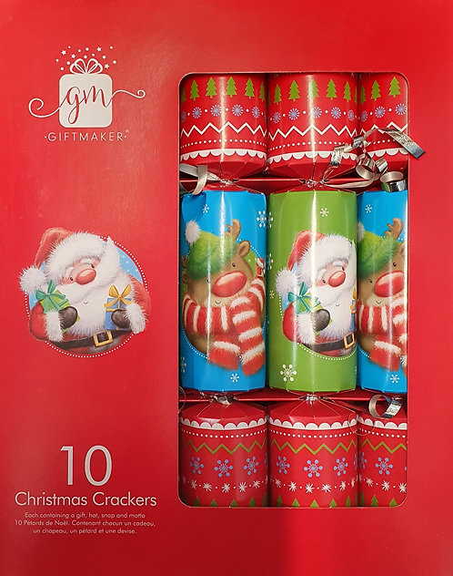 Juvenile Christmas Crackers - Box of 10