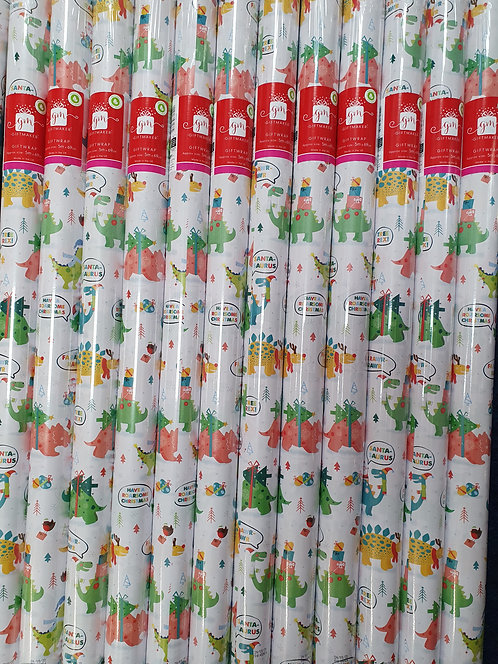 Christmas Rolls of Wrapping Paper - Dinosaurs