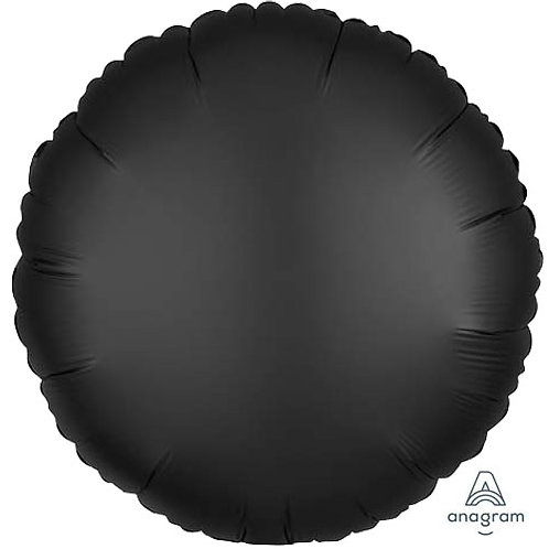 "18"" Onyx Black Round -  Anagram Balloon - Helium Filled"