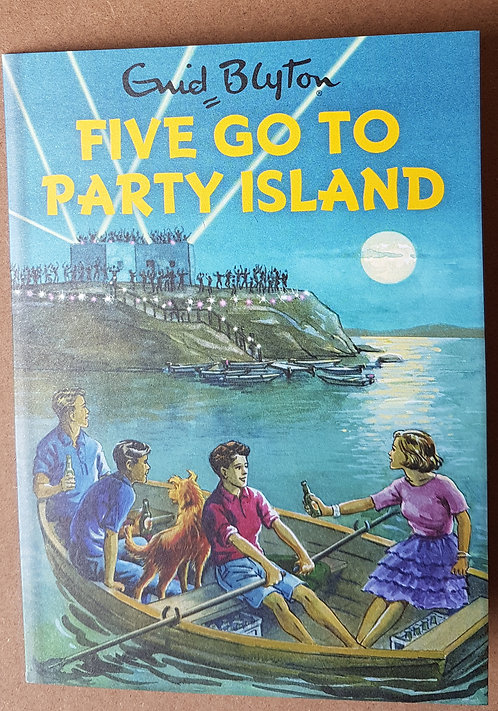Enid Blyton, Five Go To Party Island - Greeting Card