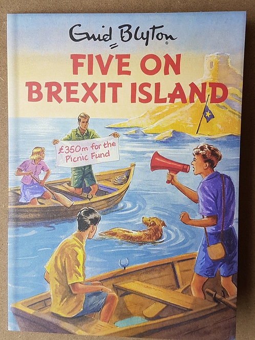 Enid Blyton, Five On Brexit Island - Greeting Card